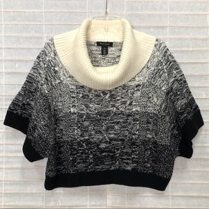 White House Black Market Cowl Neck Sweater Poncho